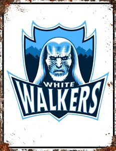 Details about GAME OF THRONES GOT TV WHITE WALKERS Inspired Vintage Season  Metal Poster Sign.