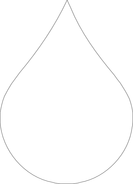 Free Water Droplet Outline, Download Free Clip Art, Free.