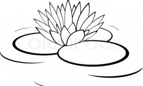 Lily Pad Clip Art Black And White.