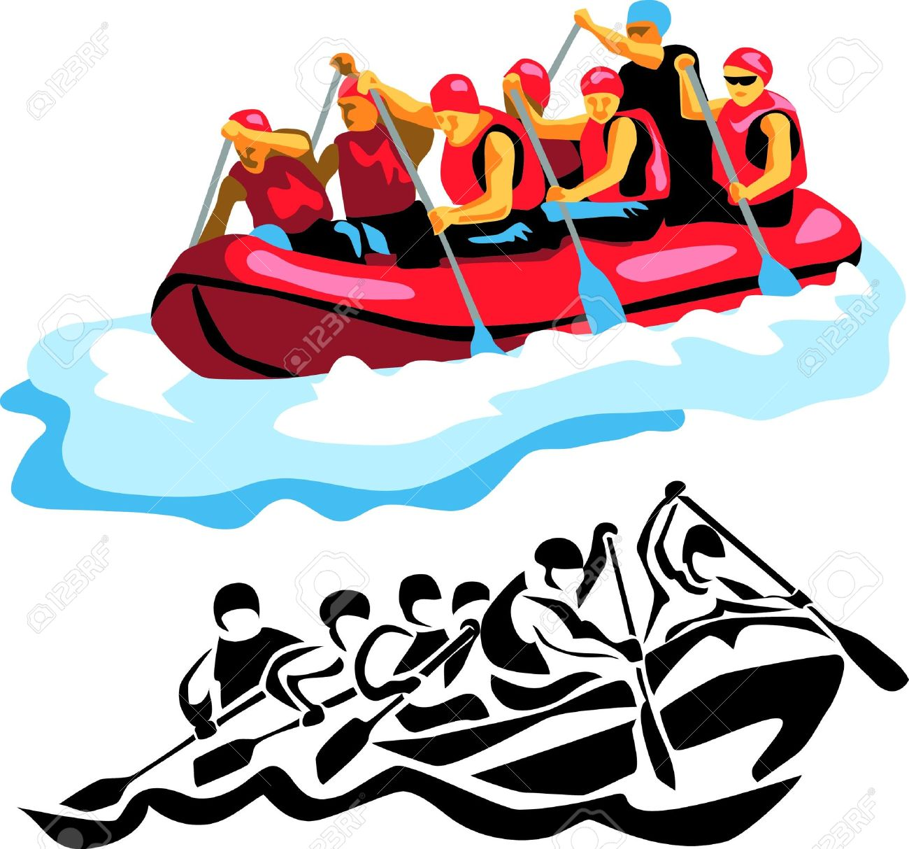 White water rafting clipart 8 » Clipart Station.