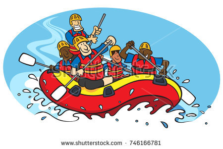 Clipart white water rafting 3 » Clipart Station.