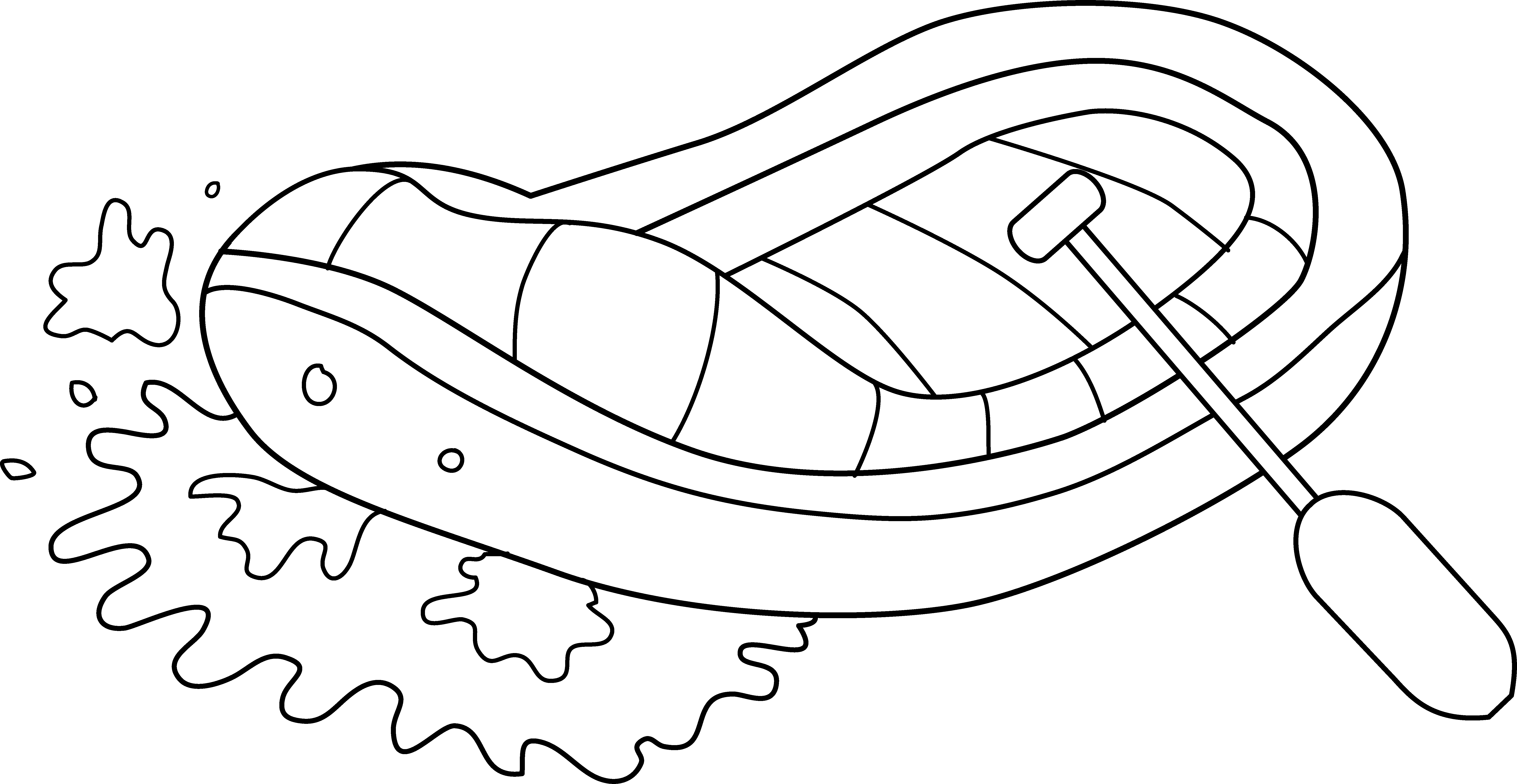 Free Whitewater Rafting Cliparts.