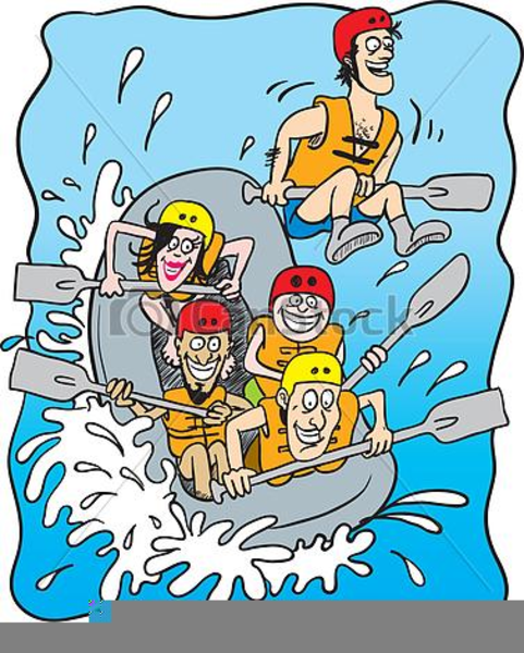 White Water Rafting Clipart Free.