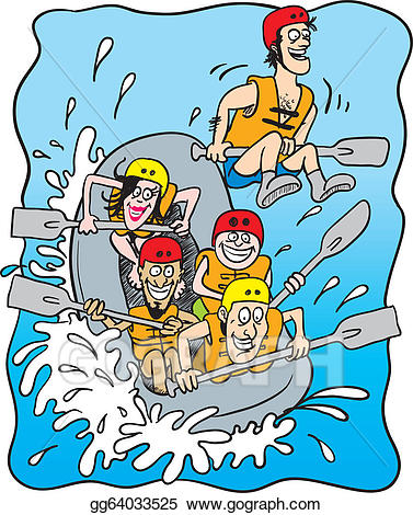 clipart white water rafting #2