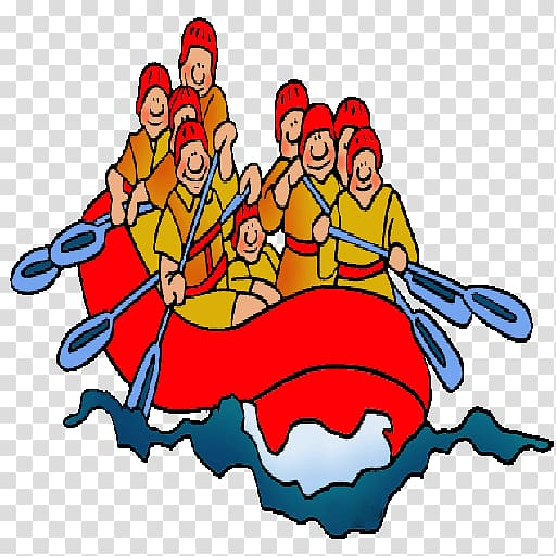 Rafting Whitewater , River rafting transparent background PNG.