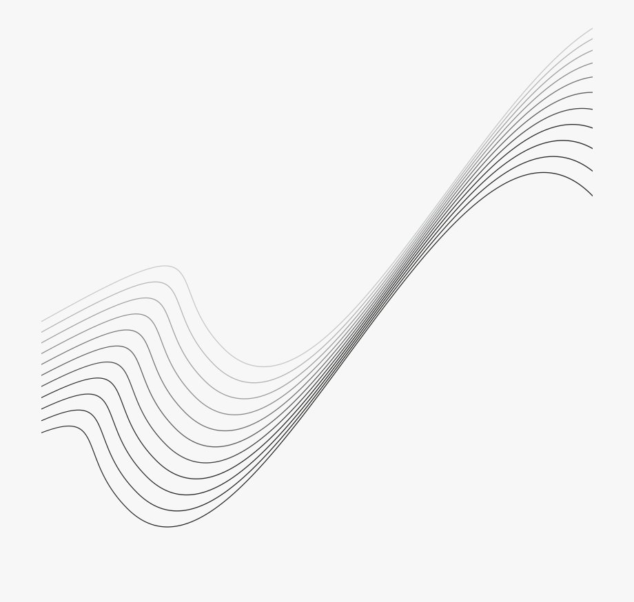 Black And White Waves Clipart.