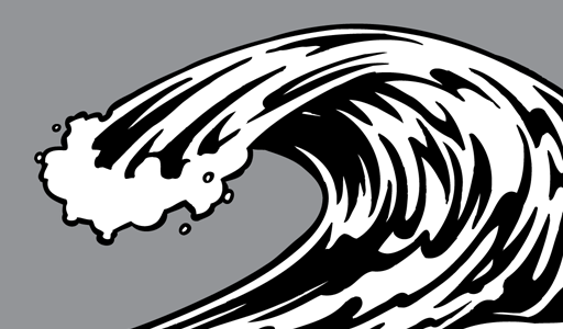 Waves black and white waves wave clipart 2 clipart.