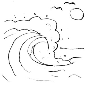 White Waves And Black Clipart.