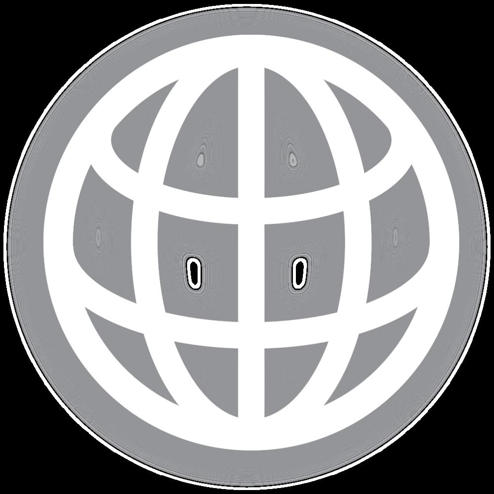 White Globe Icon #14351.