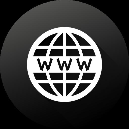 Black white, circle, gradient, high quality, long shadow, website.