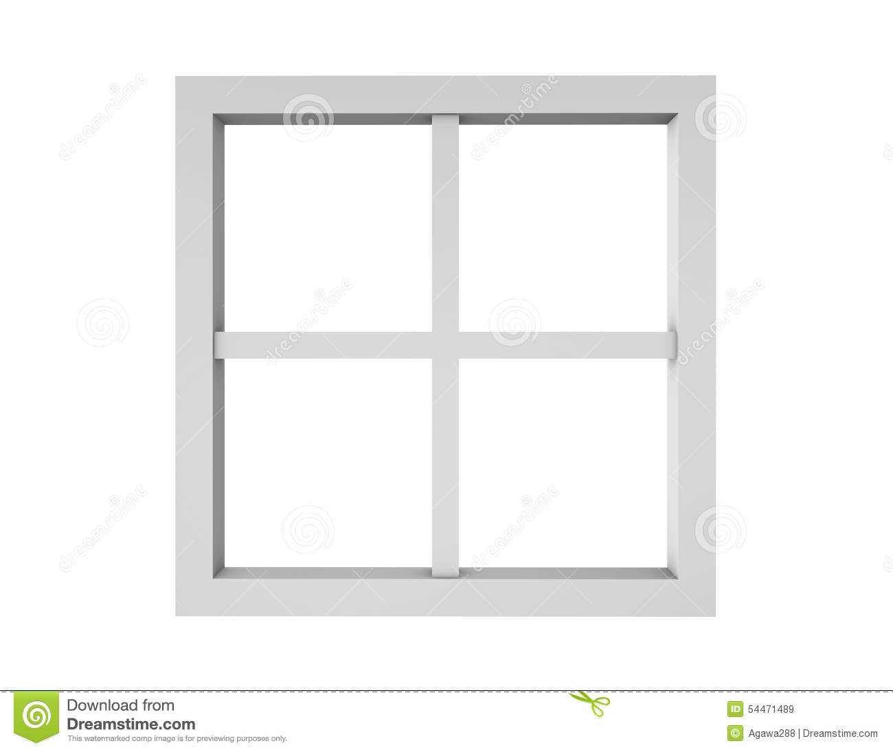 White window frame clipart.