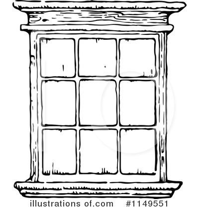 White Window Clipart.