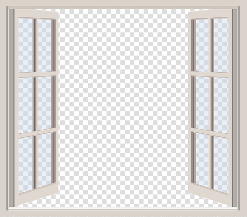 Windows ByunCamis, glass window with white frame.