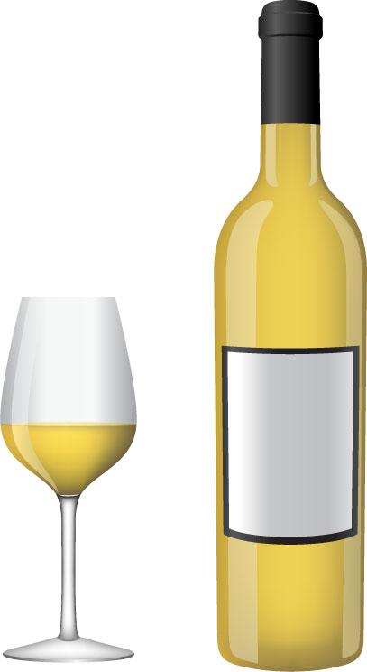 White Wine Bottle Clipart.