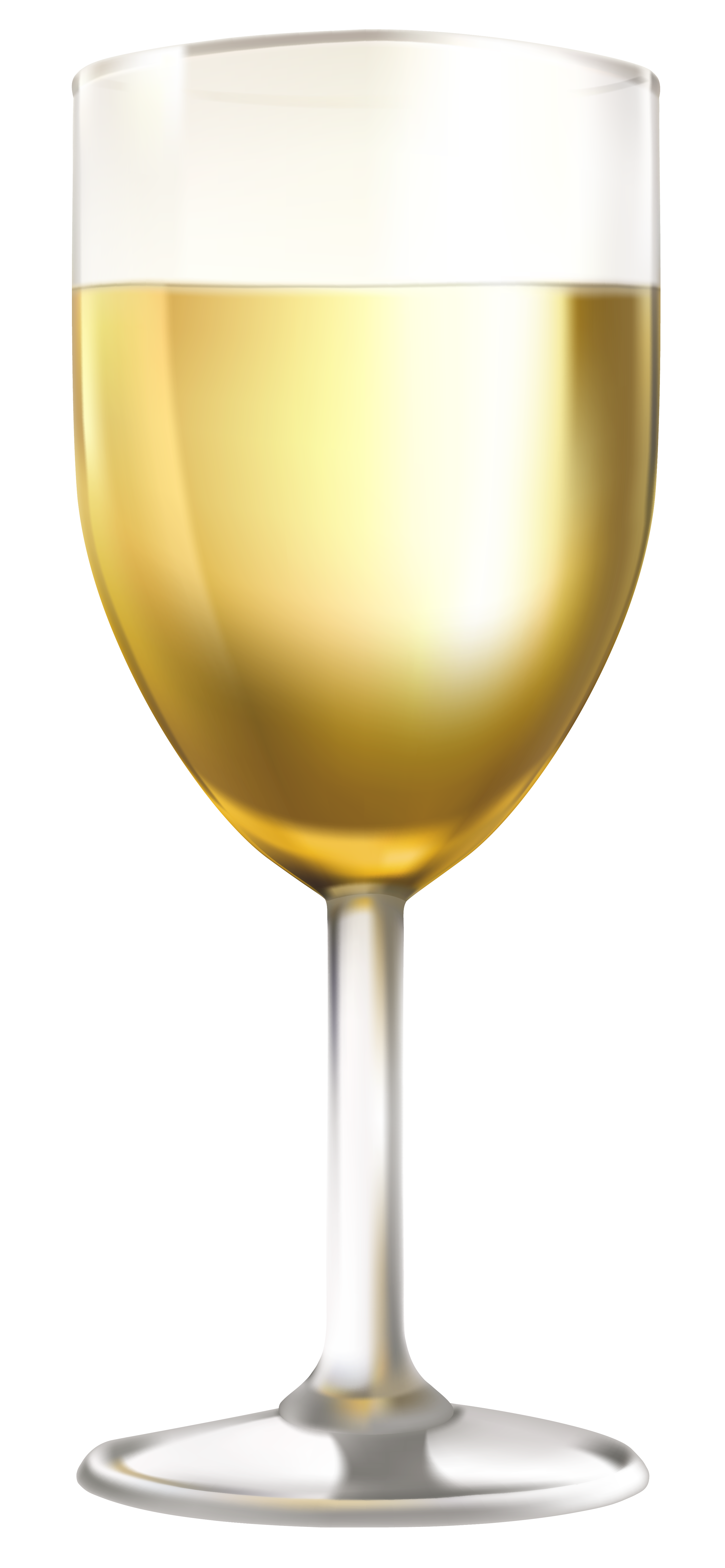 White Wine Glass PNG Clip Art Image.