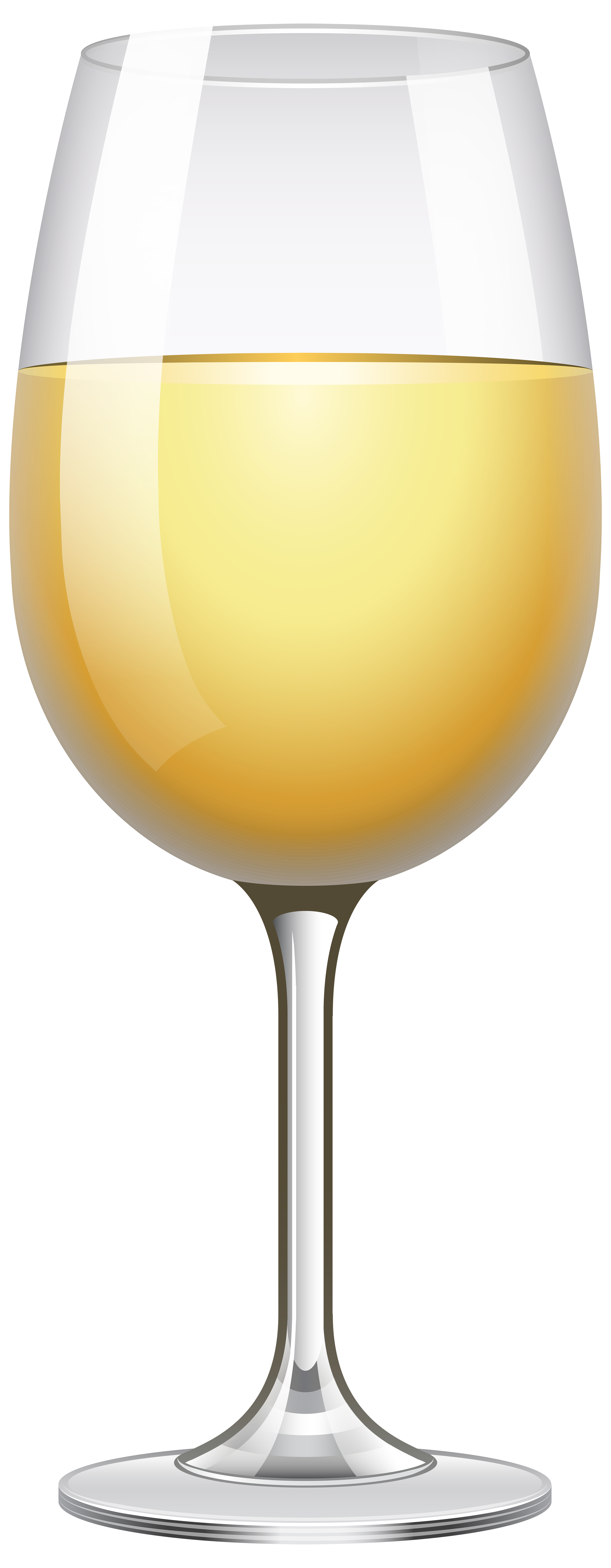 White Wine Glass Transparent PNG Clip Art Image.
