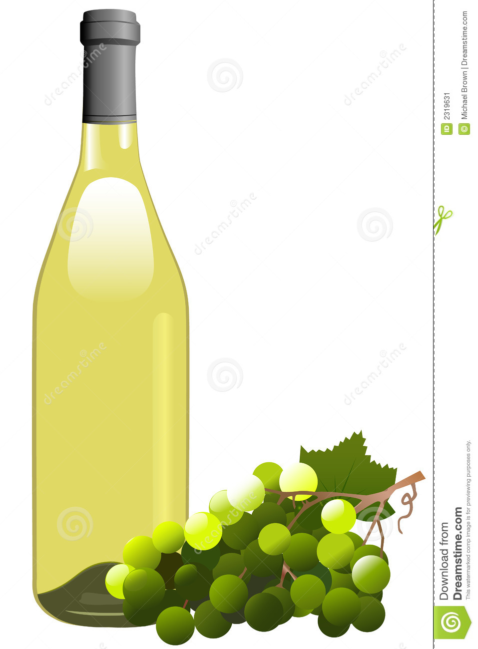White Wine Clipart.