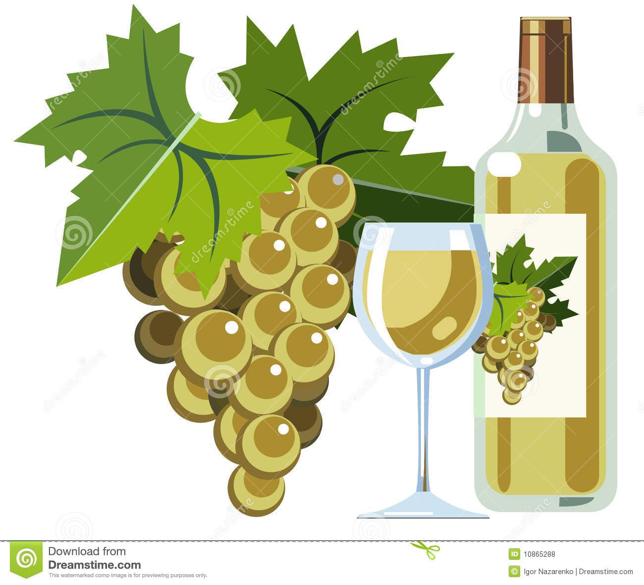 White Wine Grapes Clipart.