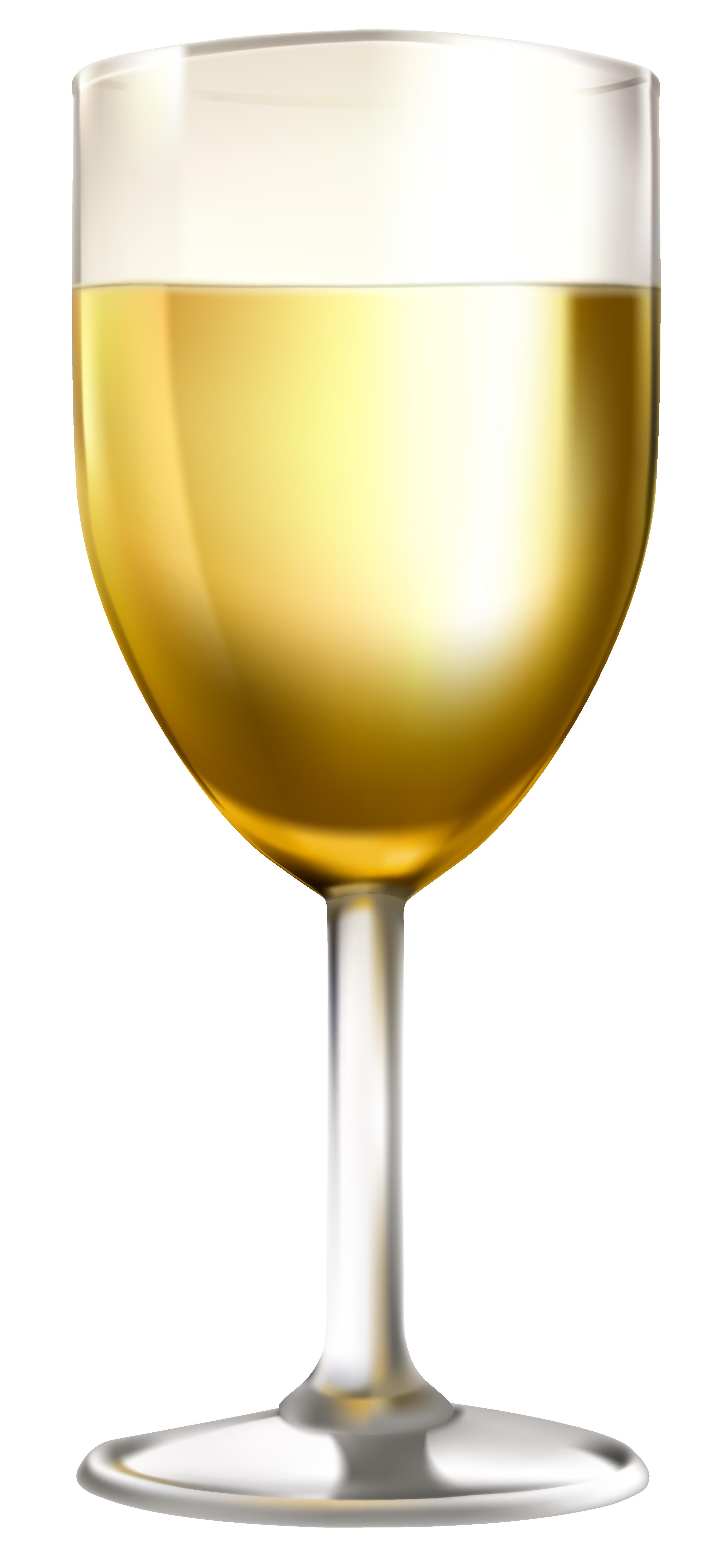 White wine glass clip art image.