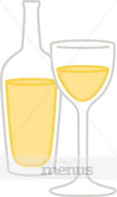 White Wine Clip Art.