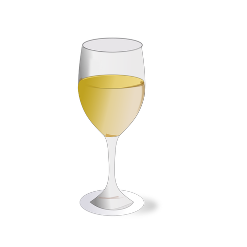 White wine glass.