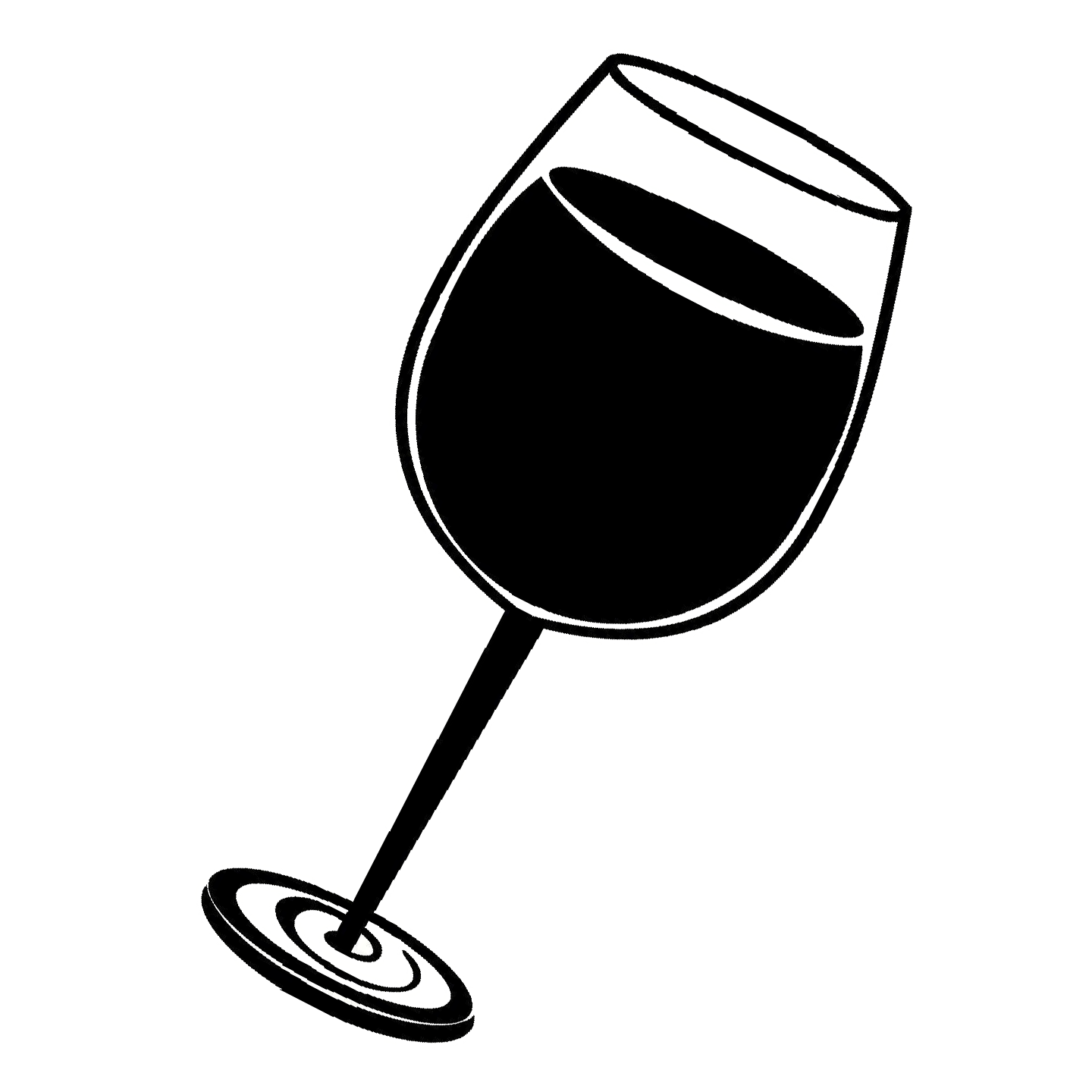 Black And White Wine Glass Png & Free Black And White Wine.