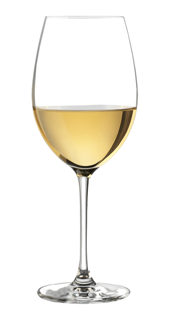 White wine glass transparent background.