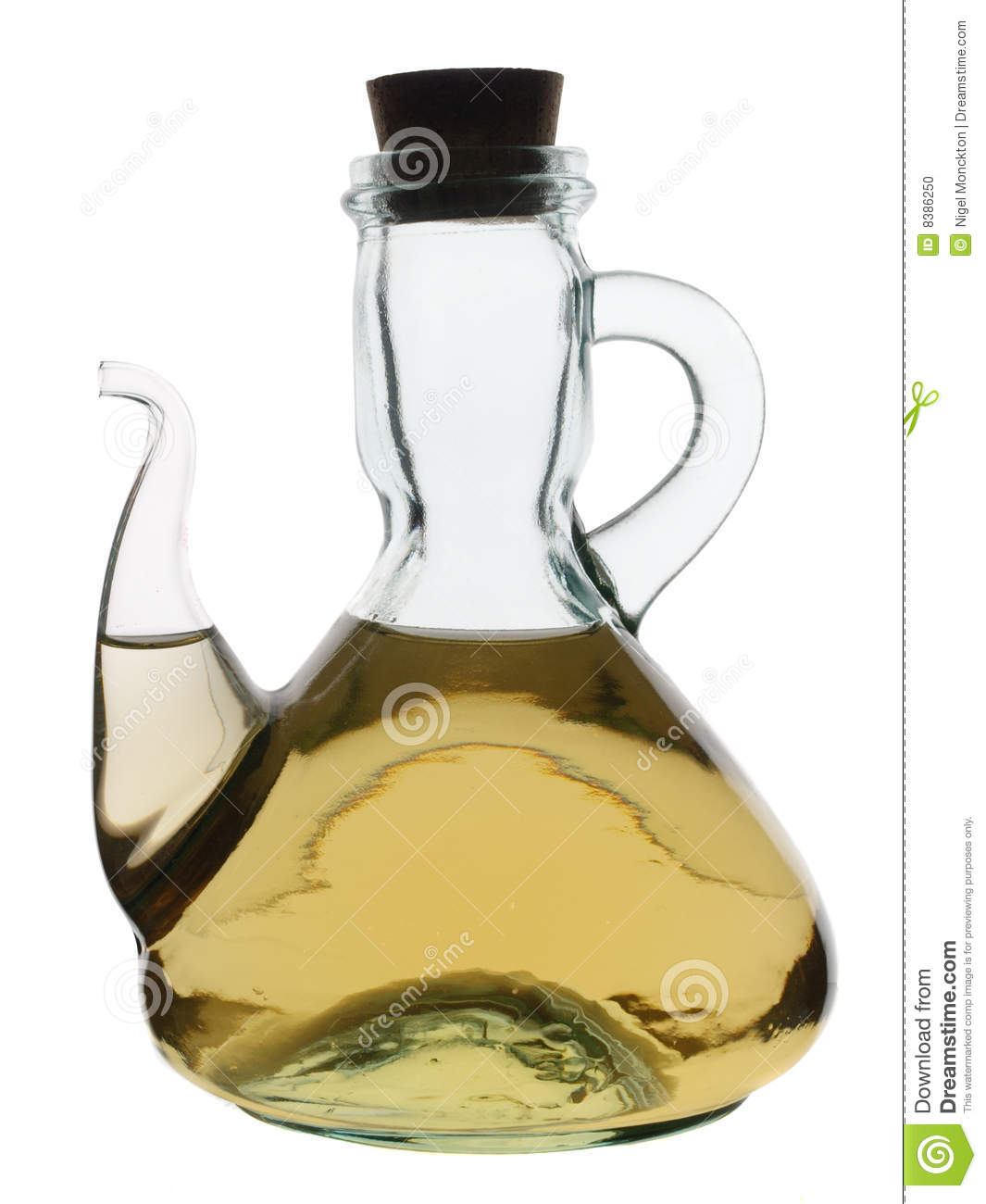 Glass Jug With White Wine Vinegar Stock Photo.