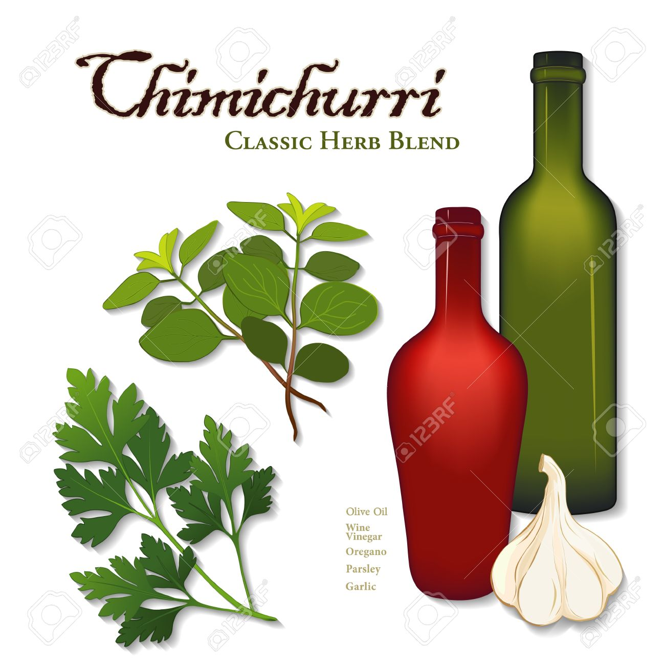 Chimichurri, Popular Herb Seasoning Sauce From Argentina For.