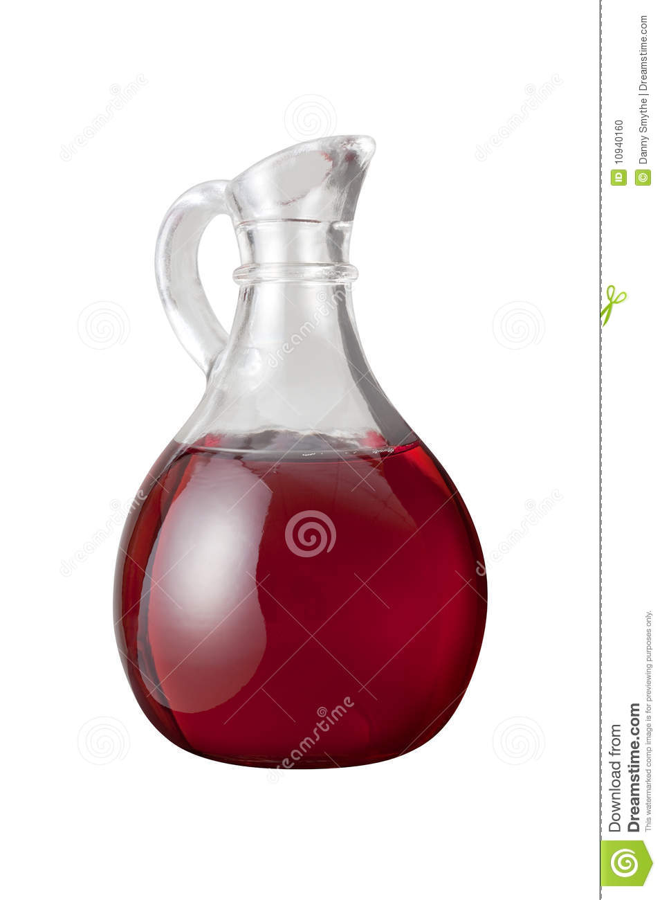 Red Wine Vinegar (with Clipping Path) Stock Photo.