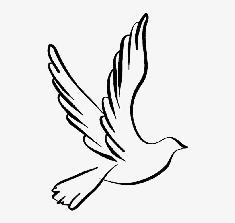 White Dove Clipart Dove Open Wing.