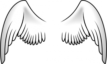 White Wings Clipart.