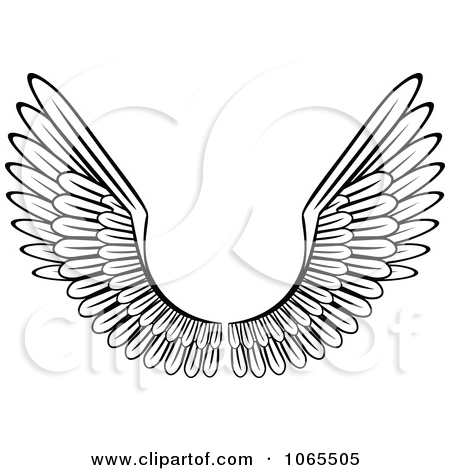 Clipart Black And White Wings 17.