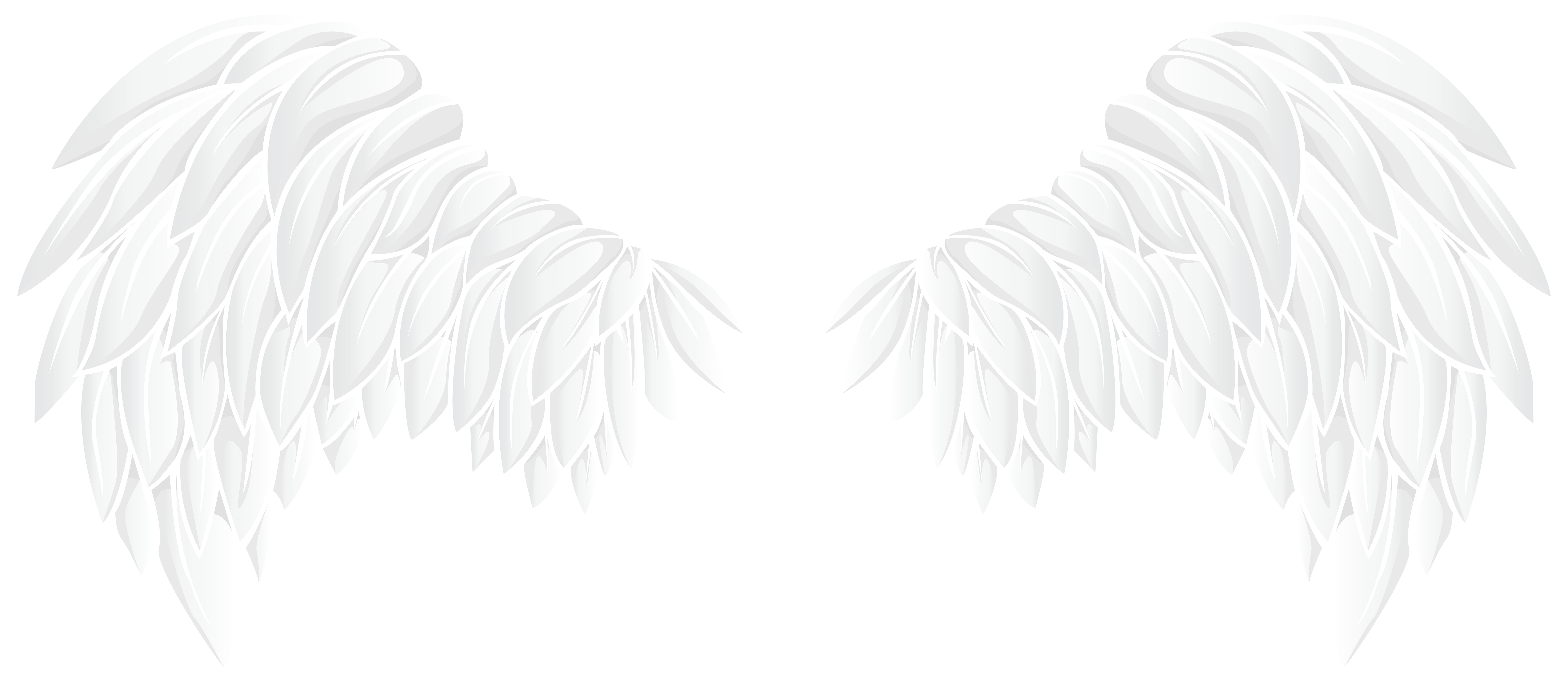 White Wings PNG Clip Art Image.