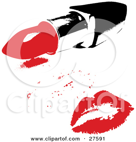 Clipart Illustration of a Pretty Blue Eyed, Black Haired Woman.