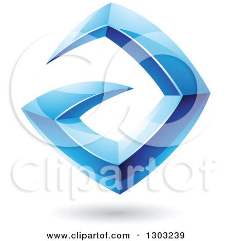 Clipart Abstract Letter A Icons With Shadows 9.