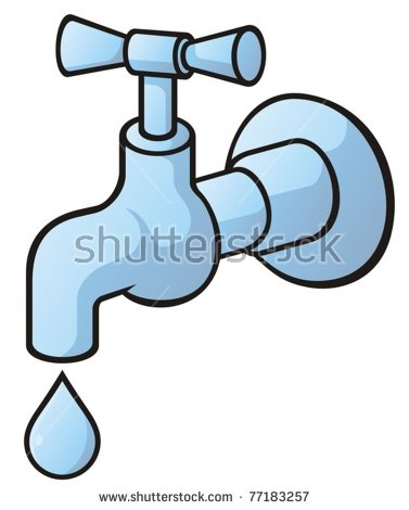 Vector Images, Illustrations and Cliparts: Dripping tap, light.