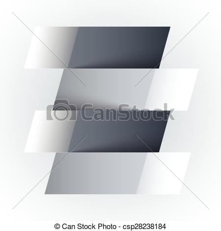 Vector of Infographics shiny white and grey paper rectangle.