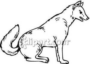 White Wolf Clip Art.