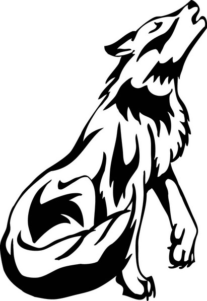 Free Clip art of Wolf Clipart Black and White #4749 Best White.