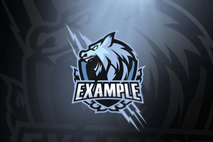 White Wolf sport and esports logos by ovozdigital on Envato Elements.