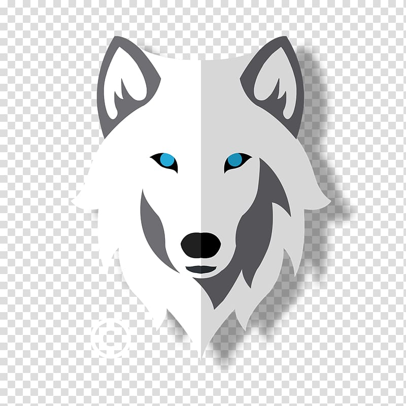 Gray wolf Logo Painting Snout Wolf Creations, wolf white.
