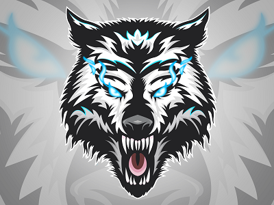 Whitewolf Mascot Logo by nexgen.graphics on Dribbble.