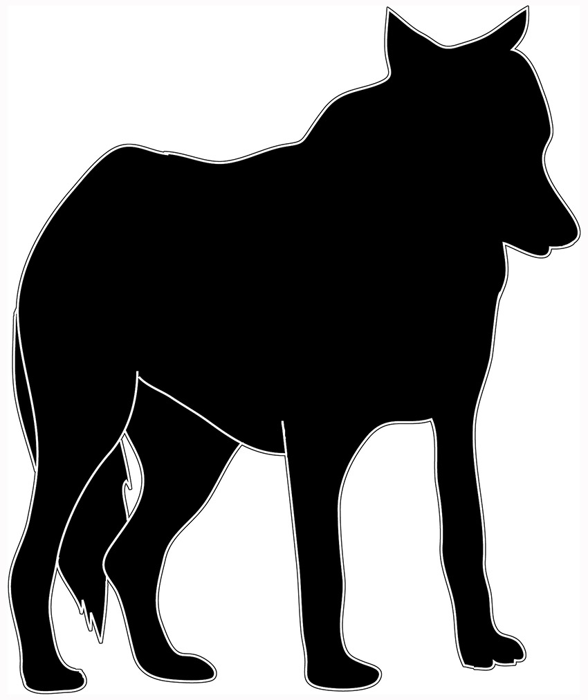 Black wolf clipart.