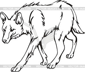 Wolf Black And White Clipart.