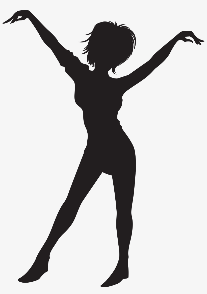 Clipart Black And White Library Dancing Girl Silhouette.