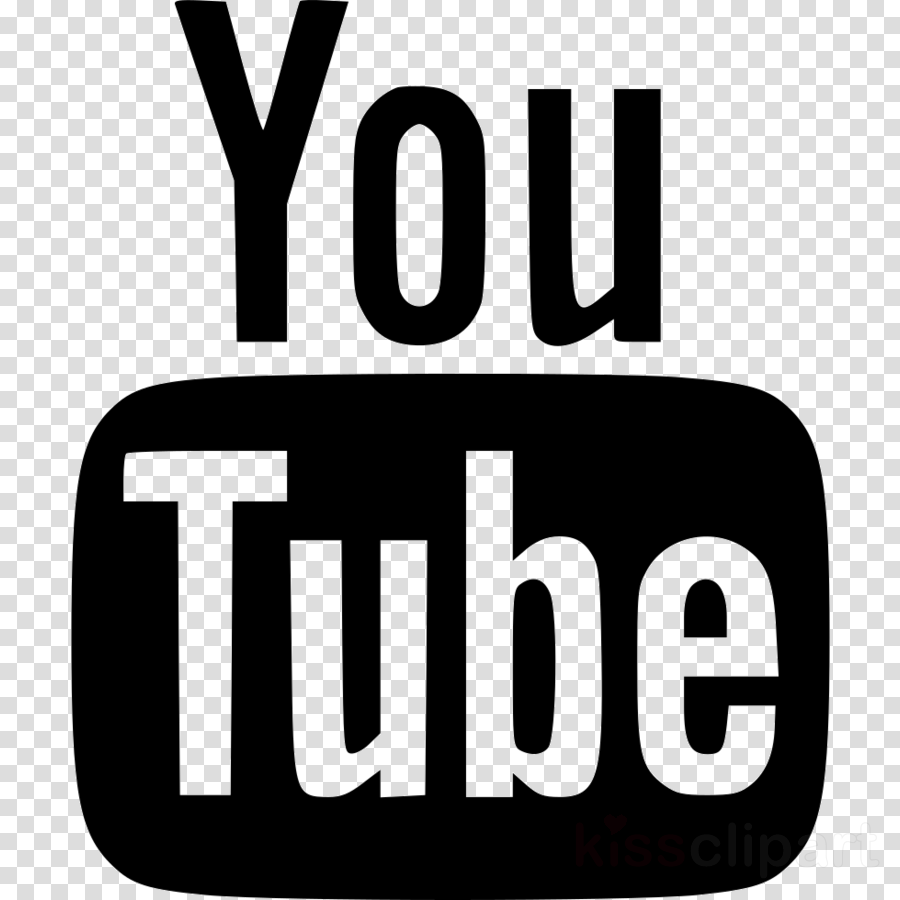 Youtube Logo Black And White clipart.