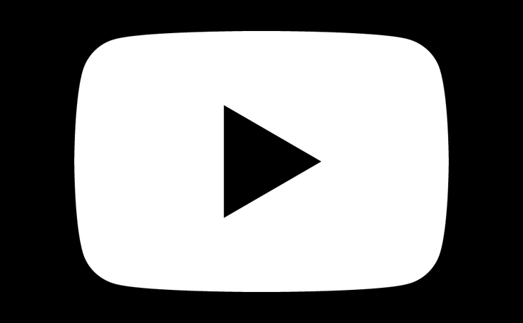 White YouTube Logo.