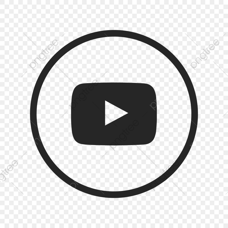 Youtube Icon, Youtube, Black And Icon PNG and Vector with.