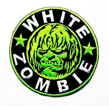 White Zombie Heavy Metal Punk Rock Music Band Logo Patch Sew Iron on  Embroidered Appliques Badge Sign Costume.